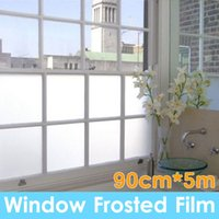 Wholesale Frosted Privacy Glass - 90cm*5m Sand Blast Clear Privacy Frosted Frosting Windows Glass Film Removable