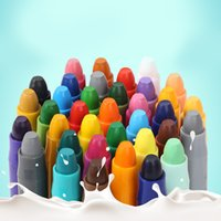 Wholesale Kid rotating painting oil painting stick crayon toys washable non toxic baby crayons suit