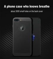 Wholesale Honeycomb Breathable Heat Dissipation PC Case Degrees Full Cover Phone Back Case For iPhone Plus S Plus
