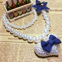 Kawaii Kids Imitation Pearl Star Big Love Heart e Bow Tie Necklace para Girl Kids Gift Choker Jóias Acessório Atacado