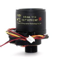 Wholesale m12 camera mount online - m12 mount inch MP IR CCTV ip Camera lens mm Auto iris Motorized Varifocal MTV Lens