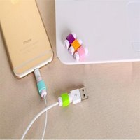 Wholesale Usb Cable Protector - USB Lightning Data Charger Cable Silicone Saver Protector Headset Protection Earphone Wire Cord Protective For Smart Phone Cell Phone