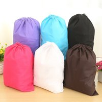 Wholesale Cheap Clothing Fabrics - Free shipping Fashion Cheap Dust Non Woven Drawstring Shoe Bag Hot selling shoes bag for wholesales
