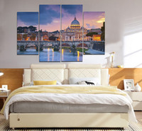 Wholesale Rivers Life - Venice Castle Near The River By Night Frameless Paintings