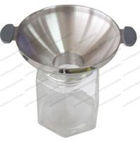 remplir la cuisine achat en gros de-NOUVEAU 304 granit en acier inoxydable entonnoir cuisine huile drain vin entonnoir ravitaillement pickle miel outil de remplissage MYY