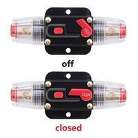Wholesale Wholesale Fuse Holder - Auto Car Protection Stereo Switch Fuse Holders Circuit Breaker Reset Fuse Inverter for Car Audio System Protection 20A 40A 60A 80A 100A