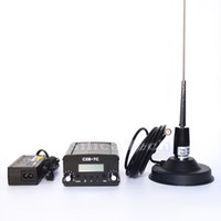 Wholesale Broadcast Transmitter Antenna - CZE-7C 7W stereo PLL FM transmitter broadcast radio station + Car antenna + Power supply + MIC Kit