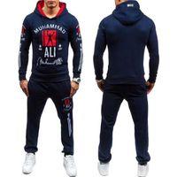 Wholesale Men Leisure Tracksuit - Wholesale-2016 Fashion Muhammad Ali Sweatshirt Men Tracksuits Sportswear Men'S Leisure Hoodies Pullover Outwear Tracksuit Sets Men Hody