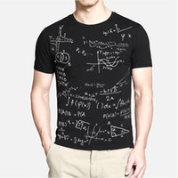 Wholesale Cool T Shirts For Men - Fashion Learning Abstract Formula T Shirts for Men Loose fit short sleeve t shirt casual tops tees cool tshirt TX87 RF