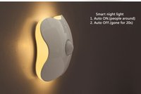 Four Leaf Clover PIR del sensore di movimento LED Night USB luce intelligente del corpo umano induzione Nightlight Batteria armadio Cabinet lampade toilette