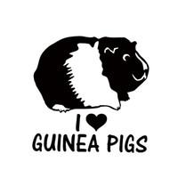 cerdo de vinilo al por mayor-Venta caliente I Love Guinea Pigs Vinyl Decal Etiqueta de Parachoques Del Coche Cavy Roedores Pet Decorativo JDM