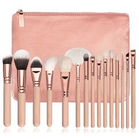 Pennelli per trucco di alta qualità New Foundation Hot Brush 15 PCS Pro Set Cosmetici Kit occhi completo per bellezza con borsa + custodia