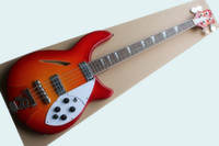 Wholesale Semi Hollow Bass Guitars - Brand newrickenbacker section electric bass semi-hollow heart four-stringed tomato fried egg color