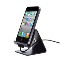 Wholesale S4 Charger Case - Cell Phone Stand Holder For iPad Tablet For iPhone 6 6S 5 5S 4 4S For Samsung Galaxy S4 S5 S6 Edge Plus Aluminum Charger Stands