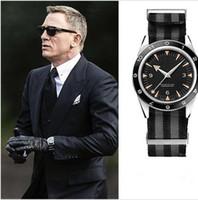 bağ yapıştırma toptan satış-Yeni Lüks mekanik erkekler 300 Usta Ko-Eksenel 41mm Otomatik Gents Saatler James Bond 007 Spectre Mens Spor Chronometer İzle Kol