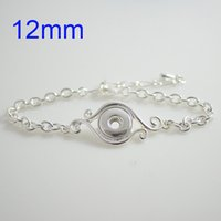 Wholesale Mini Charm Bracelets - Partnerbeads Mini Snap Bracelet high quality Metal Snap base jewelry Fit 12mm Ginger Snap button KB0422-S