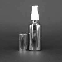 Wholesale Cheap Spray Bottles Wholesale - Cheap Silver color 30ml glass spray bottle for perfume oil boston round cosmetic water spray bottle wholesale