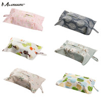 Wholesale- Meetcute Tissue Box Durable Wall Hanging Type Accueil Papier Papier Serviette Holder Car Storage suspendu Sac