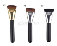 Make-up Pinsel BB Cream Foundation Concealer Universal Pinsel Holz Hand mit Silber Gold Tube Flachkopf vs Zahnbürste GLO