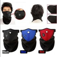 Wholesale half balaclava - Half Face Mask Winter Veil Windproof Sport Bicycle Motorcycle Snowboard Balaclava Masks Outdoor Ski Cap OOA2186