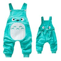 Wholesale Baby Boy Suspender Trousers - New styles 100 cotton knitting fabric baby suspender trousers embroidery animal design infant pants boys girls kids overalls