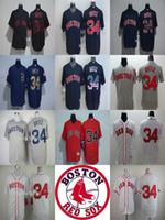 Wholesale Cheap Kids Factory - 2017 Factory Outlet Mens Womens Kids Boston Red Sox 34 David Ortiz White Grey Blue Red Throwback Cheap Cool Flex Base Baseball Jerseys