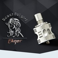 Wholesale E Cigarette Girl - Wholesale-2016 E cigarette best seller Rda beautiful girl rda health care products Square rda beautiful girl with 18 airflow control holes