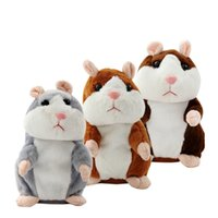 Wholesale Toy Hamster Voice - Talking Hamster Talk Sound Record Repeat Stuffed Plush Animal Kids Child Toy Educational Plush Toys Repeat Voice Stuffed Xmas Gifts