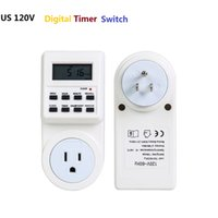 Wholesale Timer 24 Hours Digital - digital timer switch US 120V 1800W Smart Home LCD screen Socket timer Plug Power Supply week clock setting memory function by DHL