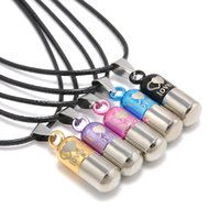 Wholesale Titanium Rope Jewelry - Wholesale-Metal Urn Cremation Save Love Can Open Pills Pendant Necklace Ash Holder Mini Keepsake Jewelry Silver