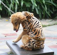 köpek kostüm çocuğu toptan satış-Pet Ceket Ceket Hoodies Köpek Tulum Kostümleri Büyük Köpek Giysileri Komik Kedi Giyim Büyük Boy