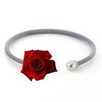 Wholesale Shell Bracelet Color - High quality stainless steel bracelet women jewelry Lady bracelet gold plated silver rose many differient color free shiping