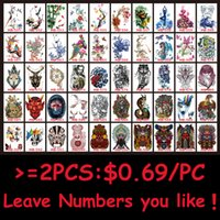 Wholesale Sexy Temporary Tattoo Sheet - Wholesale- 1 Sheet Colorful Peacock Drawing Peony Flower Tattoo Design HB564 Sexy Women Men Body Art Temporary Tattoo Sticker Decal Product