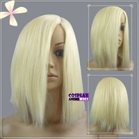 Wholesale Wig Short Light Blue - 35cm Light Golden Blonde Heat Styleable No Bang Short Cosplay Wigs 97_LGB