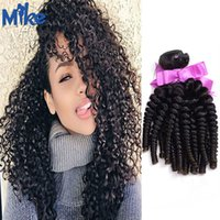 Wholesale Kinky Prices Brazilian Hair - MikeHAIR 100% Human Hair Wefts Kinky Curly Brazilian Hair Bundles 4pcs lot Unprocessed Cheap Peruvian Indian Kinky Curly Hair Factory Price