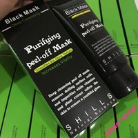 Wholesale Best Deep Cleansing Facial - Best Quality SHILLS Deep Cleansing Black Mask Pore Cleaner 50ml Purifying Peel-off Mask Blackhead Remover Facial Mask