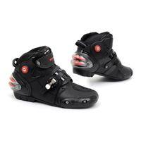 Wholesale plus size professional - Professional motorcycle boots men motorbiker boots botas motorcycles moto shoes racing pro biker,Size 40-44 black