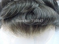 Wholesale Replacement Hair - Wholesale-New arrival , 100% indian remy hair all french lace hair replacement men toupee