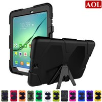 Wholesale Silicon Case Galaxy S2 - Free Shipping by ePacket Generic Rugged Armor Kickstand Case For Samsung Galaxy Tab S2 T810 9.7 T710 8.0 shockproof defender cover