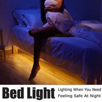 ingrosso torcia elettrica dc-Luce a LED per torcia a movimento attivo Luce notturna a LED flessibile per sensore di strisce LED per letto automatico DC 6V 1m con supporto per batteria