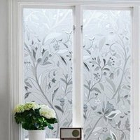 45 * 100 CM UV Proof Static Cling Frosted macchiato fiore vetro Window Pellicola Sticker Privacy Home Decor