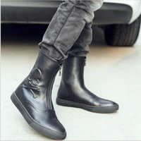Wholesale skull ankle boots for sale - Group buy New Men Genuine Leather Army Boots Fashion Platform Cool Skull Pattern Ankle Boots High Top Sapato Masculino Winter Boots