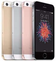 Wholesale pink 4g cell phones resale online - Refurbished Original iPhone SE Unlocked Cell Phone With Touch ID A9 IOS Inch Dual Core GB GB G LTE