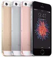 elma telefon kilidini açma toptan satış-Yenilenmiş Orijinal iPhone SE Unlocked Cep Telefonu Ile Dokunmatik KIMLIK A9 IOS 9.3 4 Inç Çift Çekirdekli 16 GB / 64 GB 4G LTE