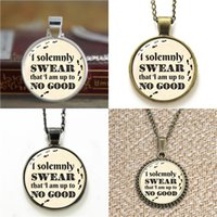 Wholesale I Earrings - 10pcs I Solemnly Swear That I Am Up To No Good HP Necklace keyring bookmark cufflink earring bracelet