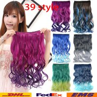 Wholesale Wholesale Sexy Wigs - Hair Wig Multicolour Five Cards Hair Piece Hair Wig Fashion Sexy Big Curly Wavy Head Clip Women's Synthetic Hair piece Hair Wigs WX-H13