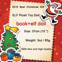 Wholesale Toy Dolls For Boys - 2016 New Plush ELF Dolls+Book Red Girl & Boy Figure Christmas elves of Christmas Novelty Toys Xmas Gift For Kids Holiday Gift
