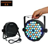 Wholesale 54 Led Par Lights - China Professional Stage Light DMX 2XLOT LED Par Light 54*1W RGBW Strobe Party Disco Stage Flash Light Plastic Case 110V-240V TP-P01