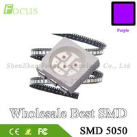 All'ingrosso 1000pcs UV LED SMD 5050 chip Viola montaggio superficiale Bead ultravioletta LED Luce ultravioletta Emitting Diode lampada