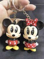 Wholesale Micky Car - Cartoon micky Minnie Mickey Mouse key chain car cute creative personality key linked to the key to hang a gift